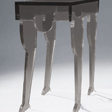 Cleo Table - Clearly Classic Smoke