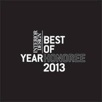 Honoree in Interior Design's 2013 Best of Year Awards