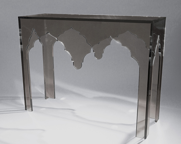 Alexander Console Table Clearly Classic Smoke White