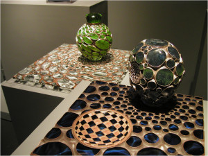 Works by Michael Glancy at Barry Friedman Ltd's booth at Design Miami 2010