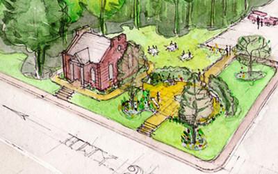 The Hillsdale Town Hall Public Garden