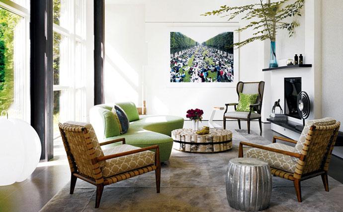 Garden-Inspired Green Rooms