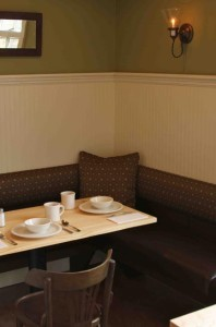 Cozy corners will allow for intimate dining for breakfast lunch and dinner.