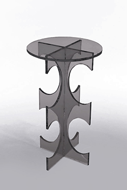 Clearly Classic Amara Table - Smoke